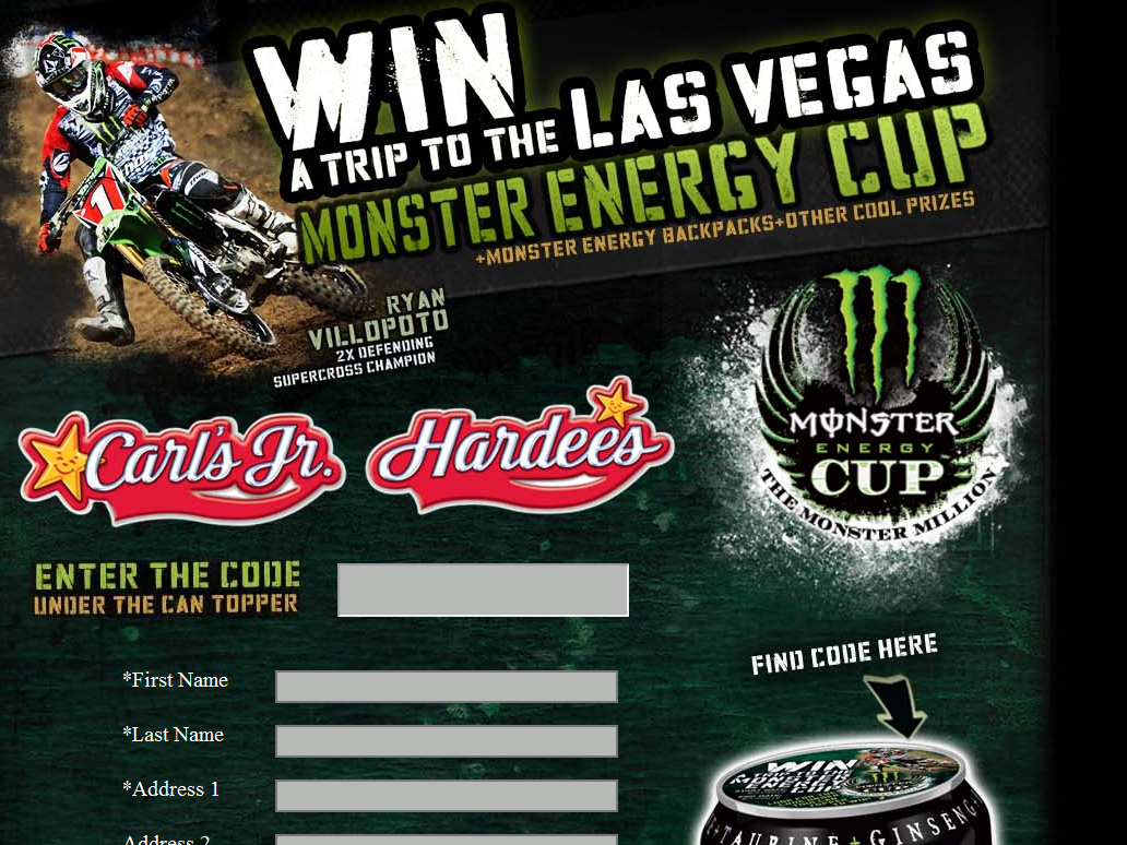 Win a Trip to the Monster Energy Cup Race Sweepstakes
