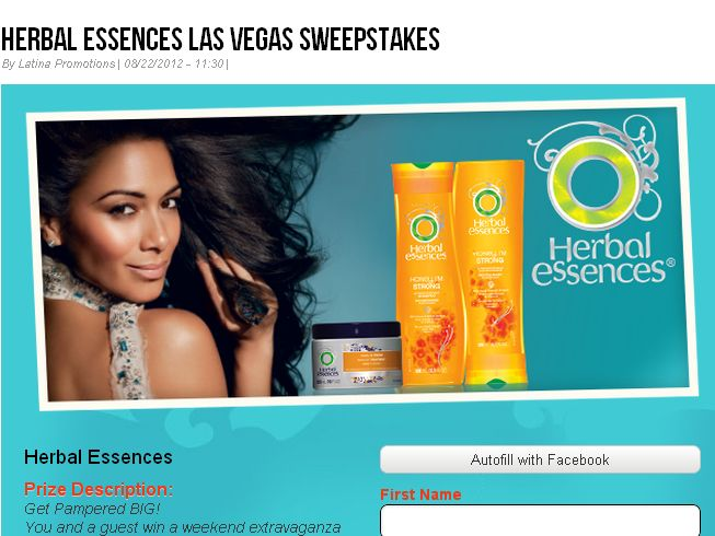 Latina's Herbal Essences Get Pampered Big Sweepstakes!