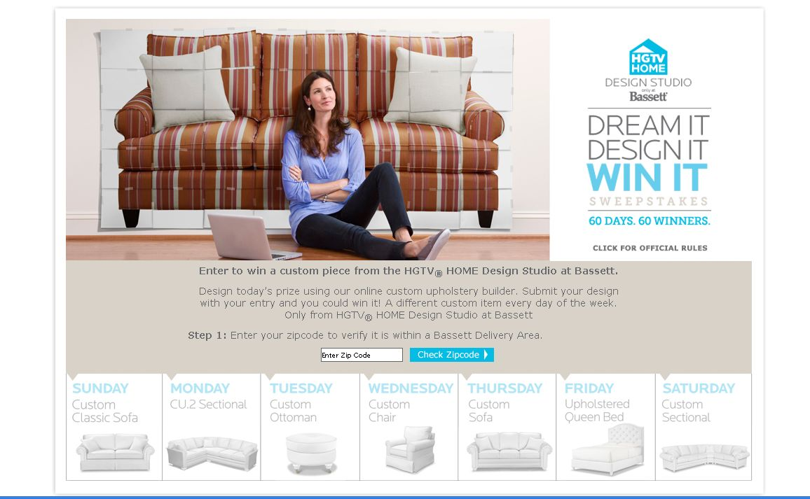 Good Bassett Dream It Design It Win It Sweepstakes!