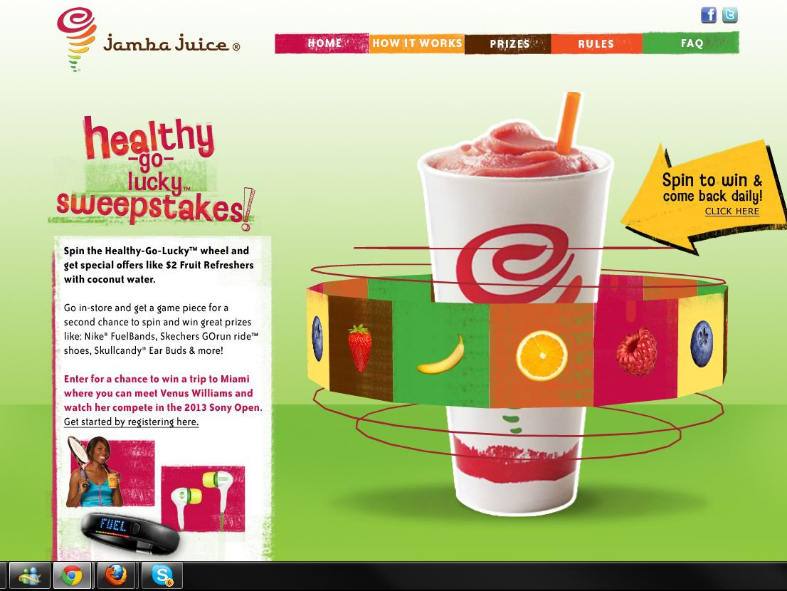 Jamba Juice Healthy-Go-Lucky Sweepstakes
