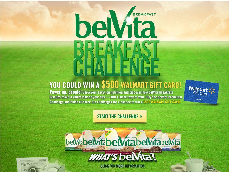 BelVita Breakfast Challenge Sweepstakes