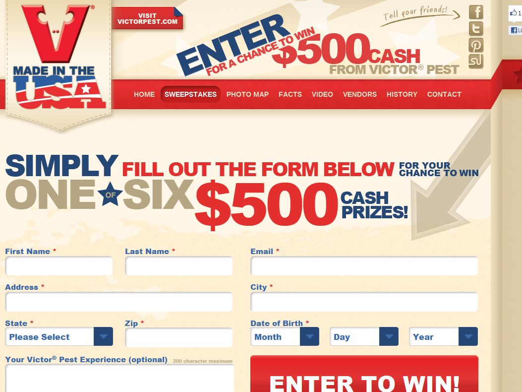 The Victor Made in the USA Sweepstakes