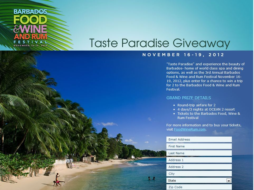 The Taste Paradise Giveaway Sweepstakes