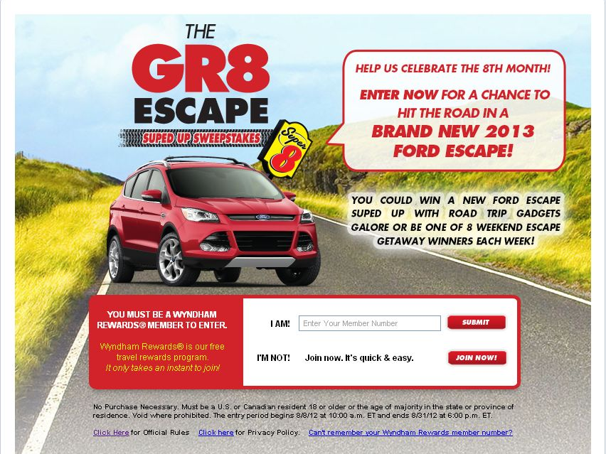 Super 8 Gr8 Escape Sweepstakes