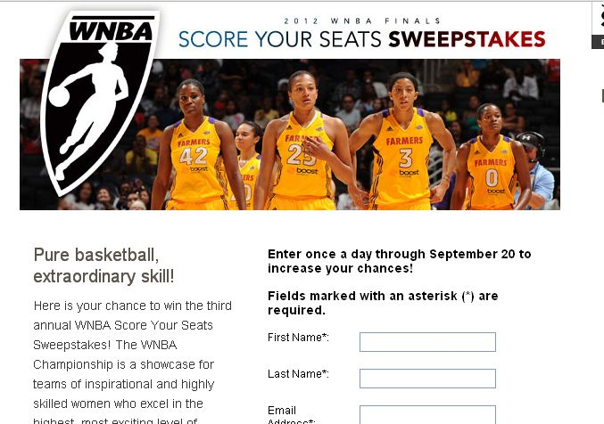 AfterEllen Presents the 2012 WNBA Finals Score Your Seats Sweepstakes!