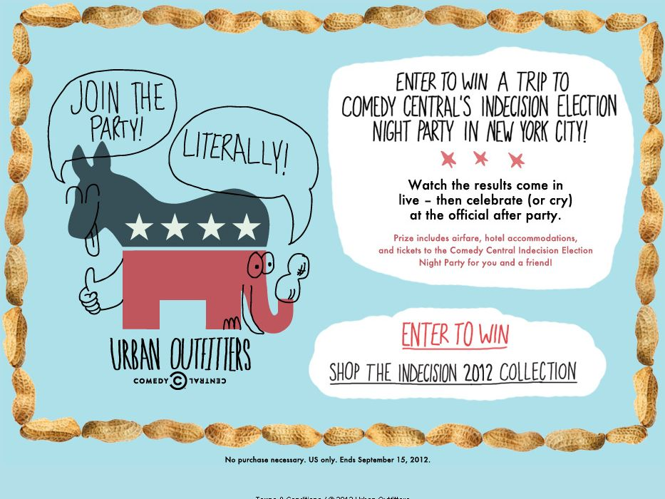 Urban Outfitters & Comedy Central Join the party Literally Sweepstakes!