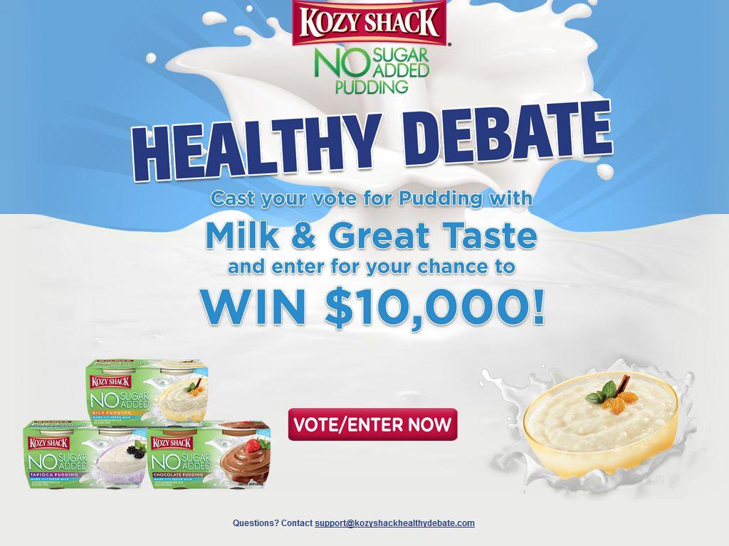 The Kozy Shack Healthy Debate Sweepstakes