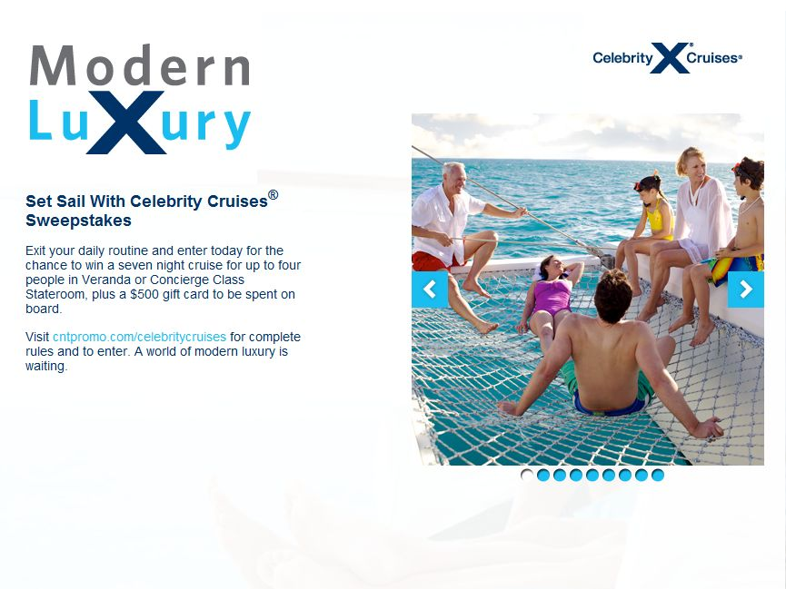 Celebrity Cruises Caribbean Sweepstakes