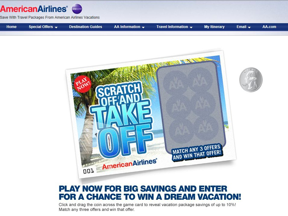 American Airlines Scratch Off & Take Off Sweepstakes