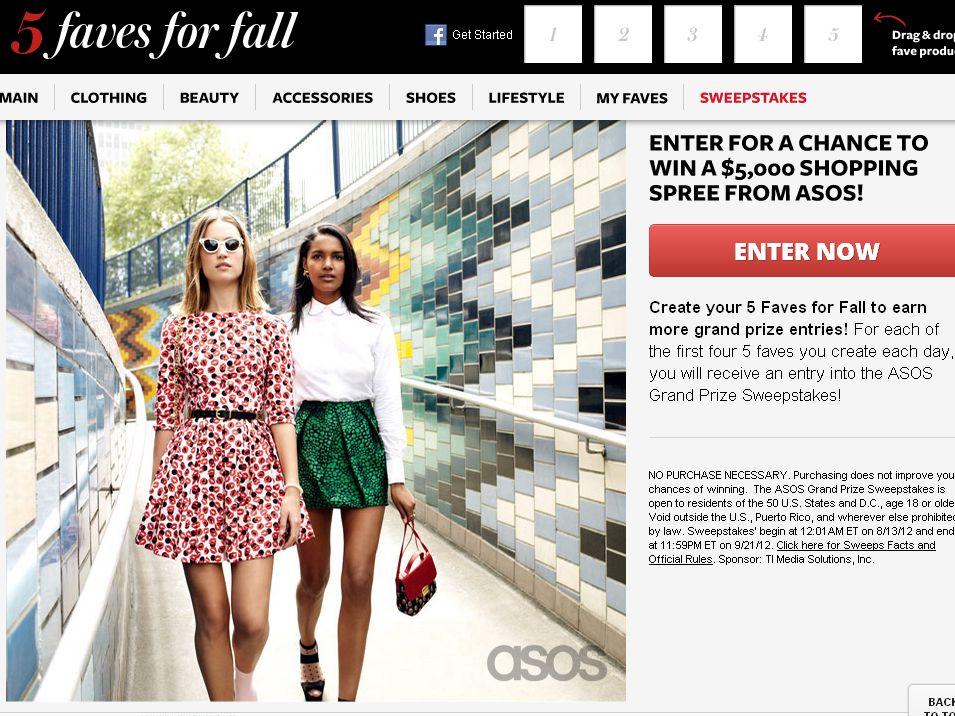 The Instyle ASOS Grand Prize Sweepstakes!