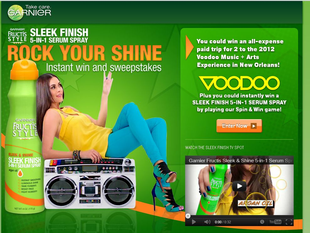 Garnier Rock Your Shine Sweepstakes & Instant Win!