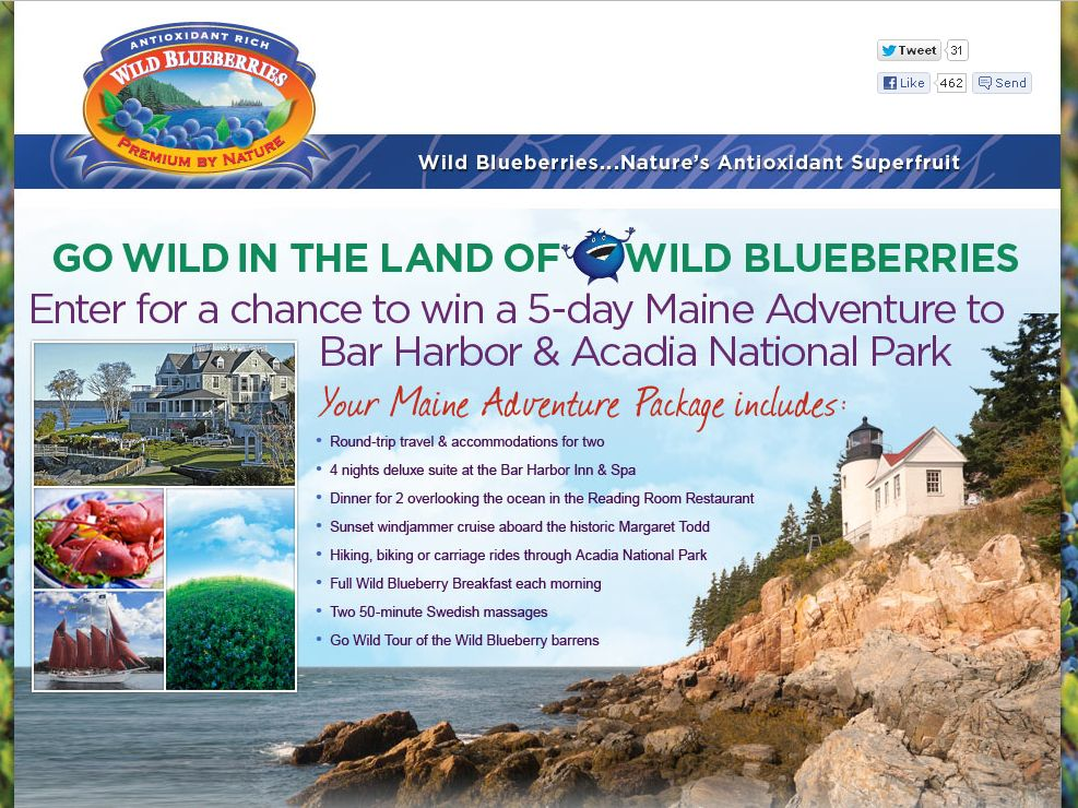 Go Wild in the Land of Wild Blueberries Sweepstakes!