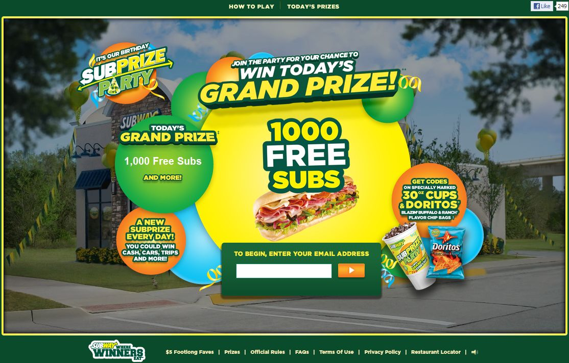 Subway Subprize Party Game