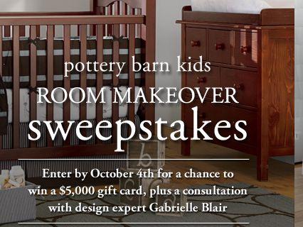 Pottery Barn Kids Room Makeover Sweepstakes