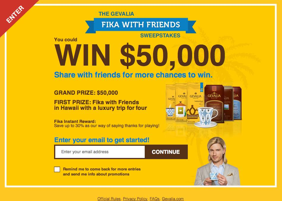 Gevalia Fika With Friends Sweepstakes