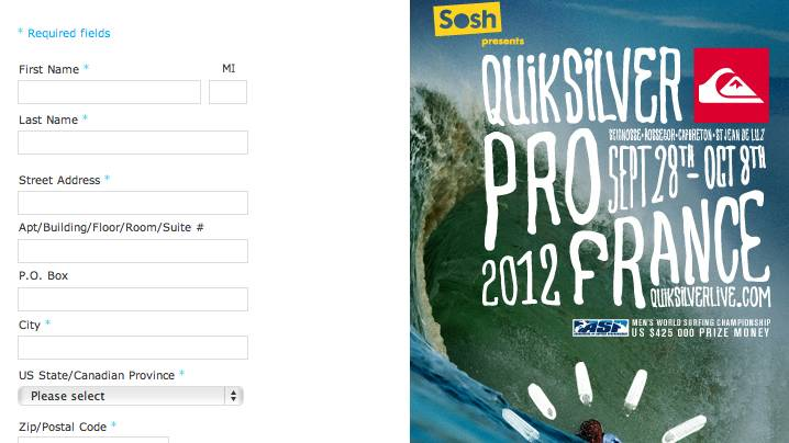 Quiksilver Pro France Sweepstakes
