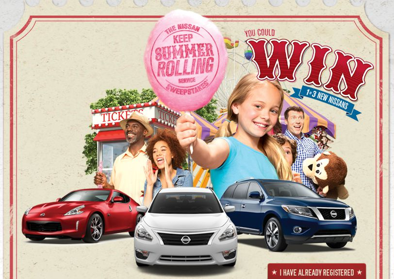 Nissan Keep Summer Rolling Sweepstakes (Nissan Owners Only)