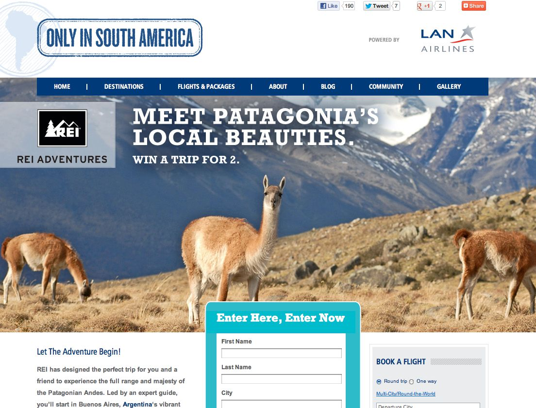 The REI Adventures fits Roy & Paine Trip To Patagonia in Chile Sweepstakes