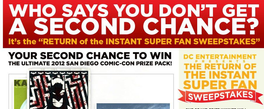 The Return of the Instant Super Fan Sweepstakes