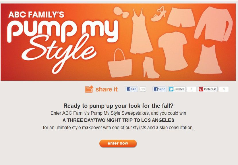 ABC Family's Pump My Style Sweepstakes