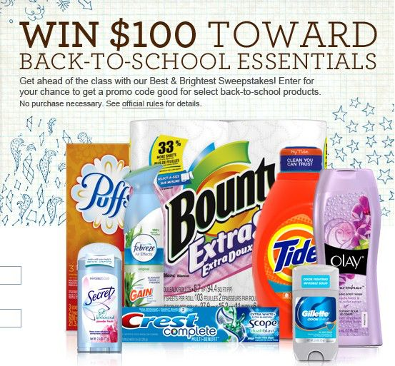 eSTORE Back to School Sweepstakes