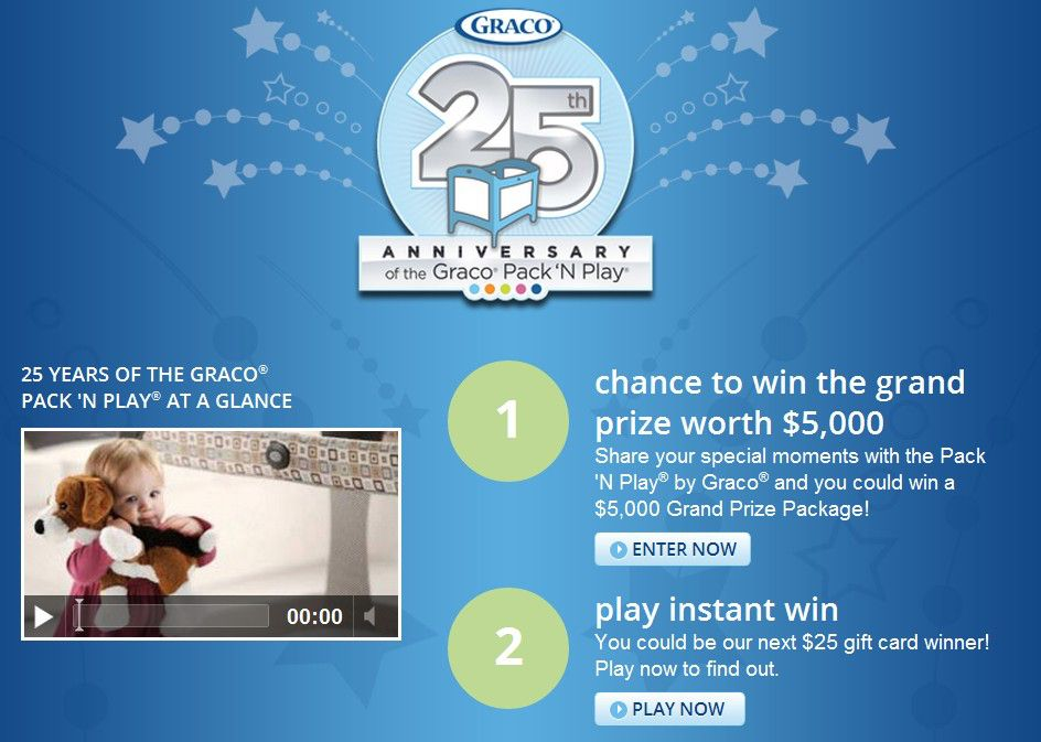 Babies R Us/Pack 'n Play 25th Anniversary Sweepstakes