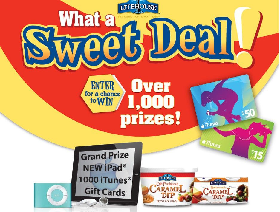 The Litehouse Foods Inc/What a Sweet Deal Sweepstakes