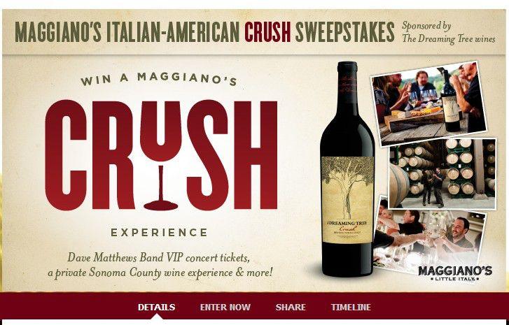 The Maggiano's 'Italian-American Crush' Sweepstakes