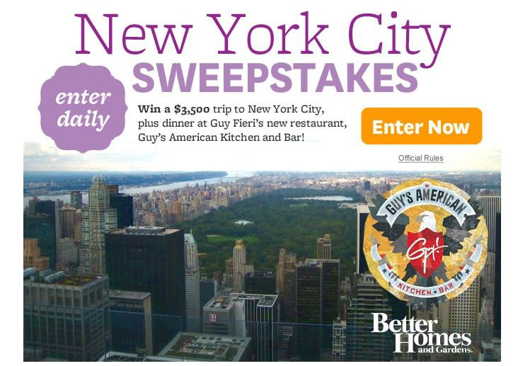 Win a trip to new york city sweepstakes