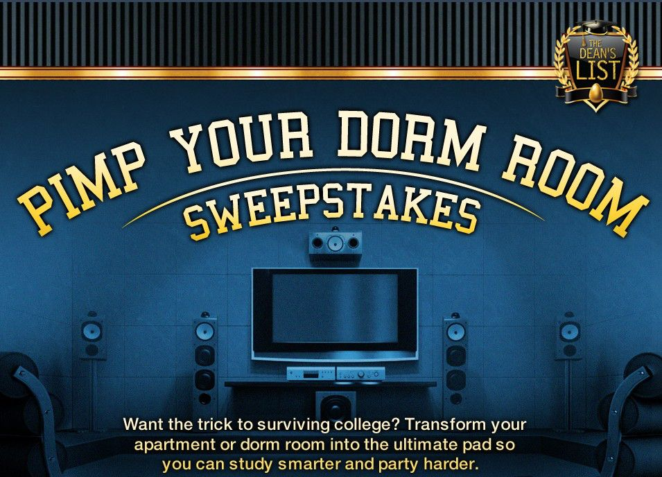 The Pimp Your Dorm Room Sweepstakes
