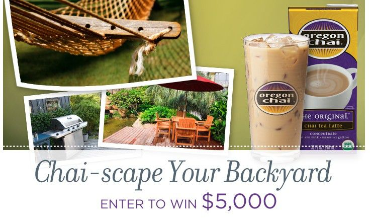 Oregon Chai Chai-scape Your Backyard Sweepstakes