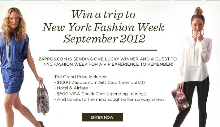 Zappos/Win a Trip to Fashion Week in New York Sweepstakes