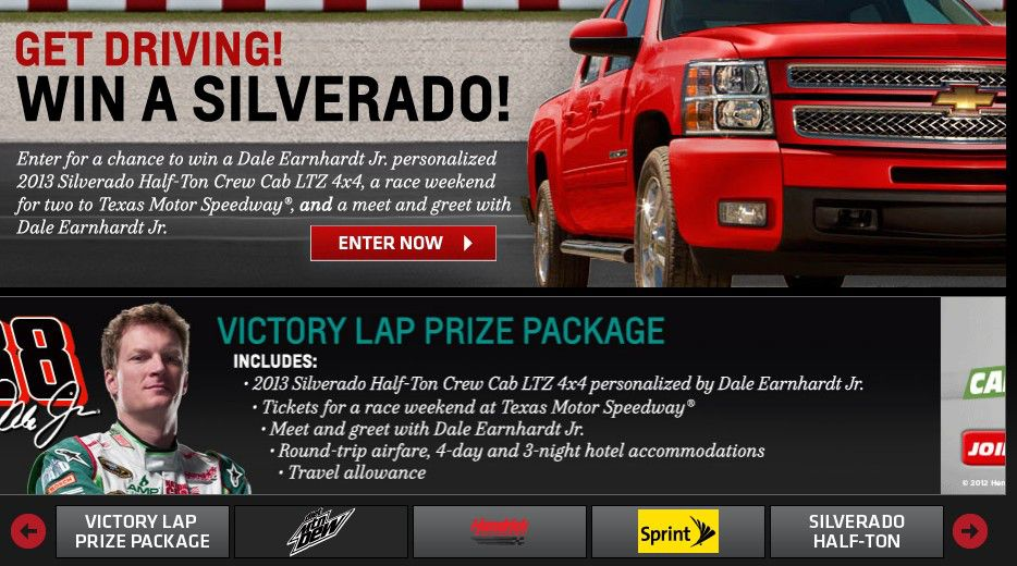 Get Driving! Win a Silverado! Sweepstakes