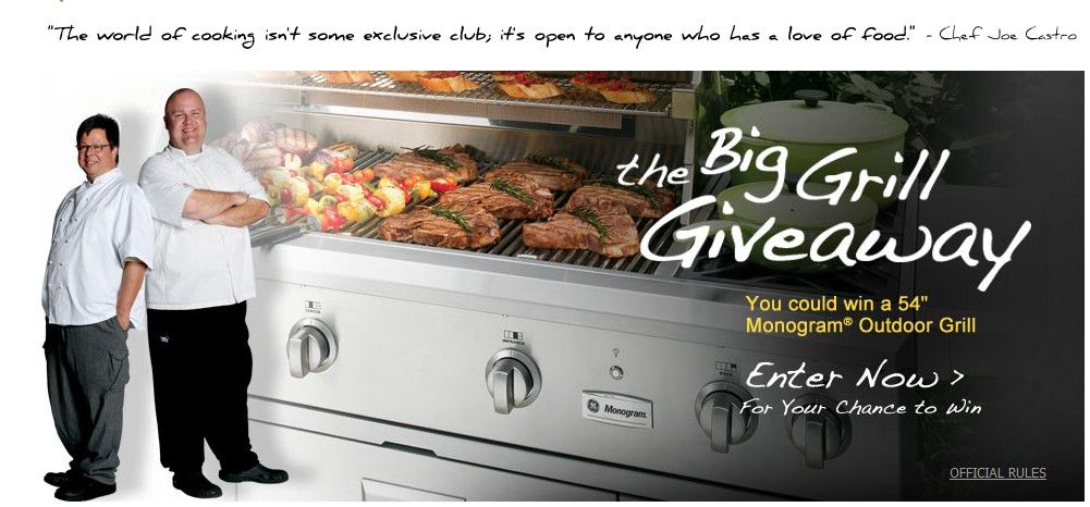 The GE Monogram The Big Grill Giveaway Sweepstakes