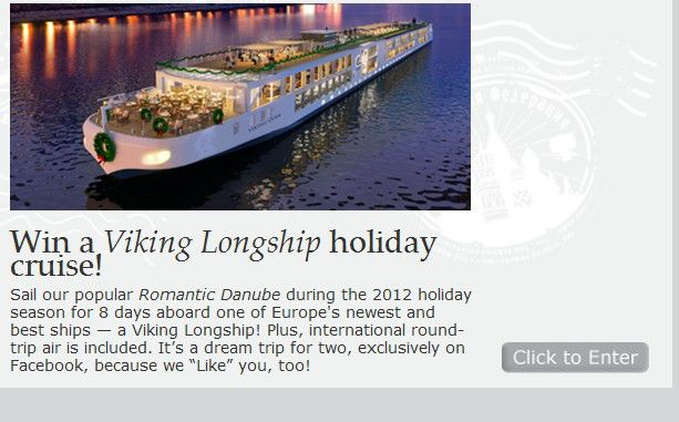 Viking River Cruises 2012 Sweepstakes