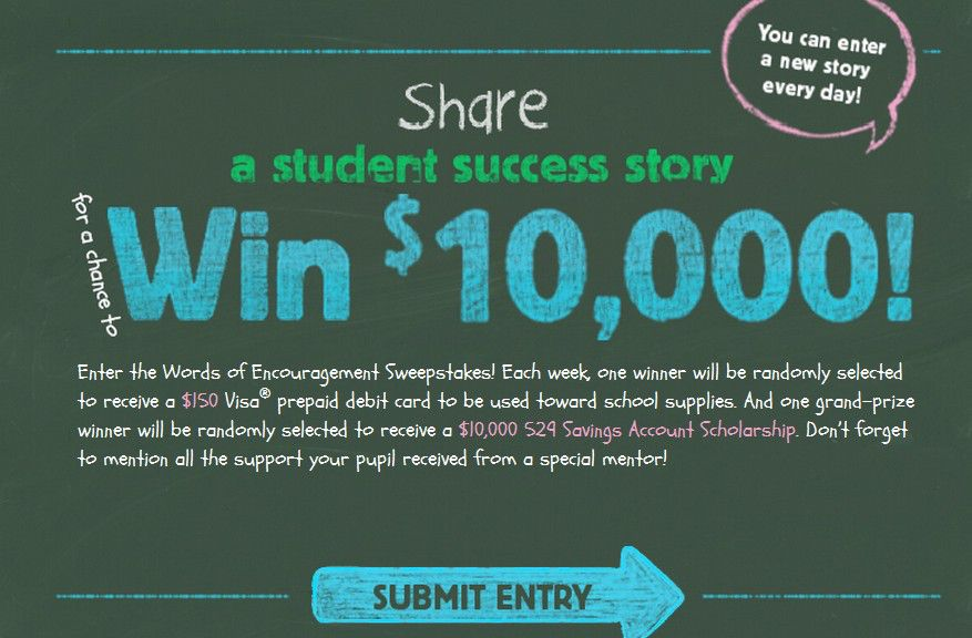 Words of Encouragement Sweepstakes
