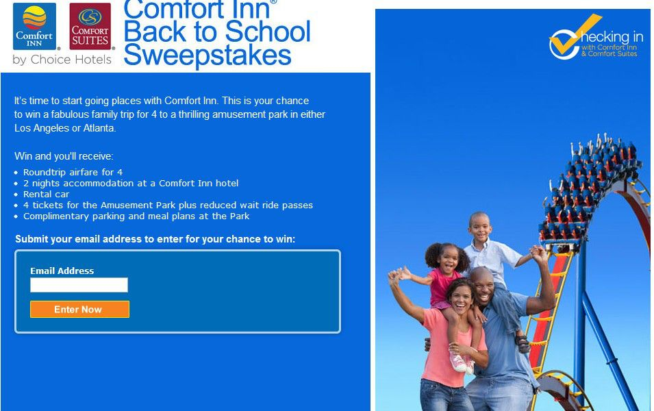 Comfort Inn Back to School Sweepstakes