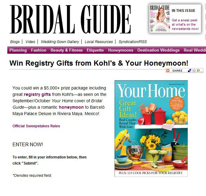 Kohl's Your Home Cover Sweepstakes