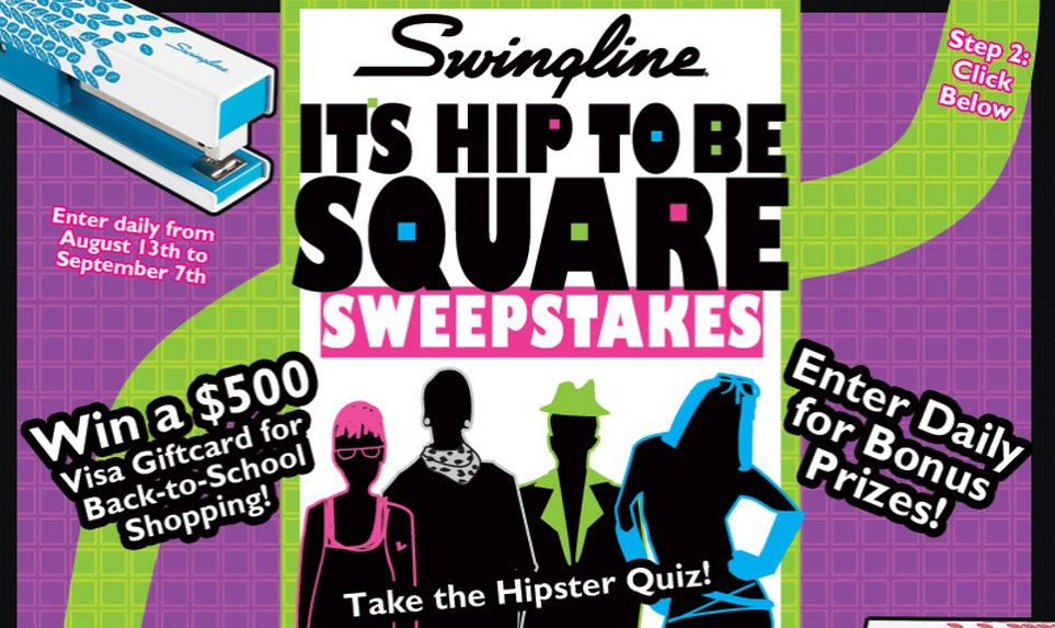 The It's Hip to Be Square Swingline Sweepstakes
