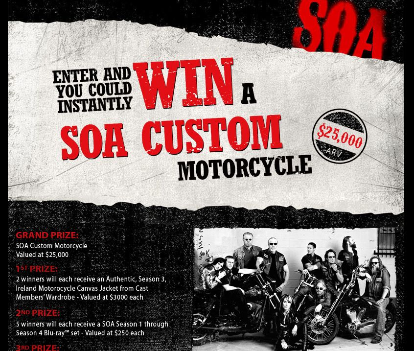 The Sons of Anarchy Instant Win Game