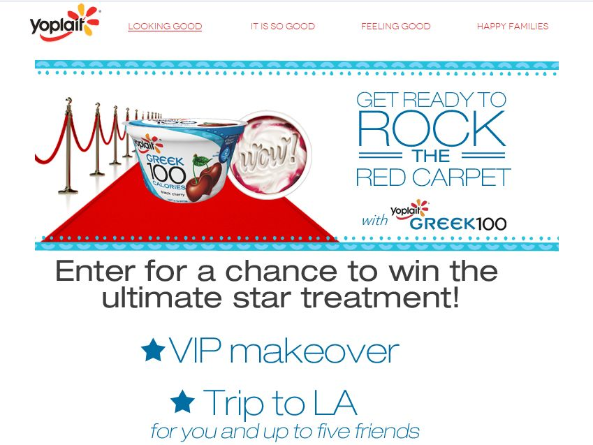 Yoplait Red Carpet Ready Sweepstakes
