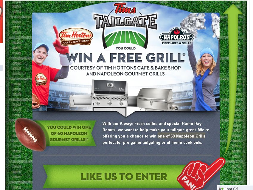 Tims Tailgate Sweepstakes!