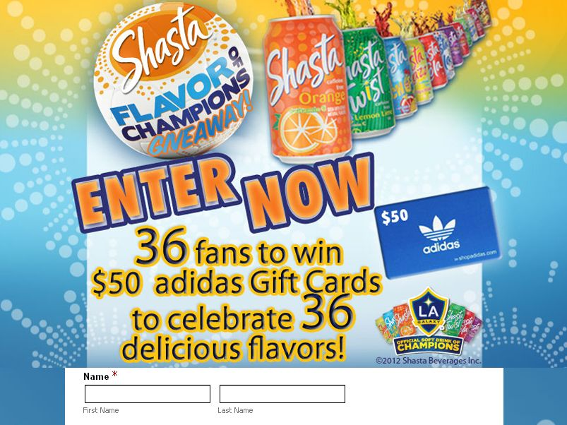 Shasta Flavor of Champions Give-Away Sweepstakes!