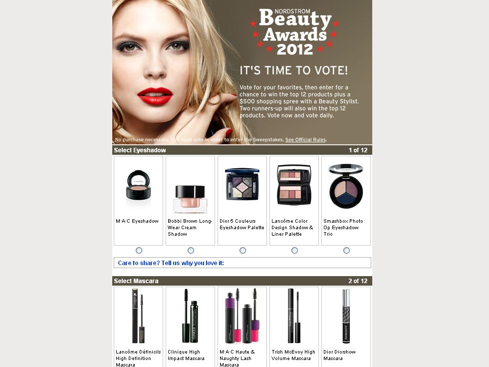 Nordstrom Beauty Awards Sweepstakes!