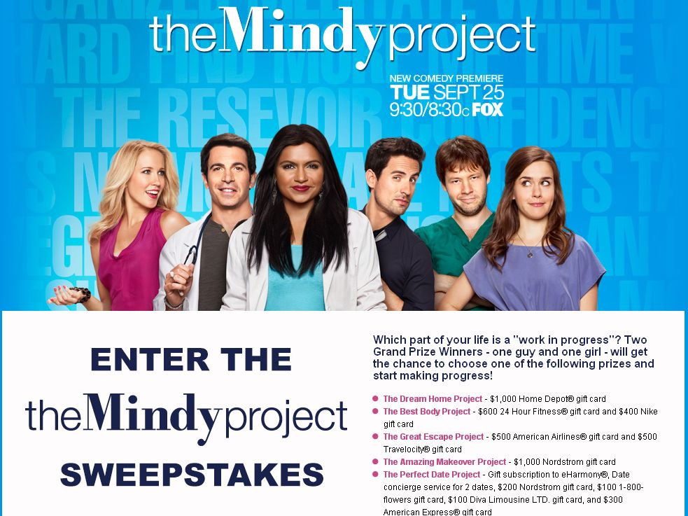 The Mindy Project Sweepstakes!