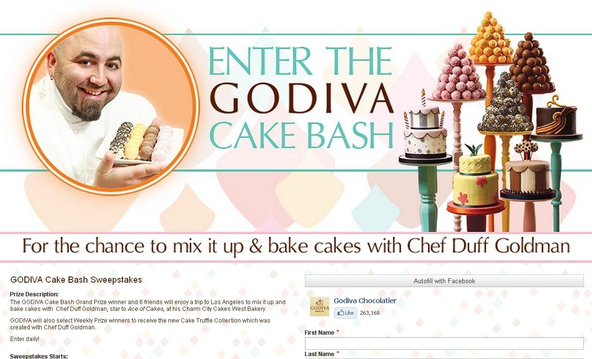 Godiva Cake Bash Sweepstakes!