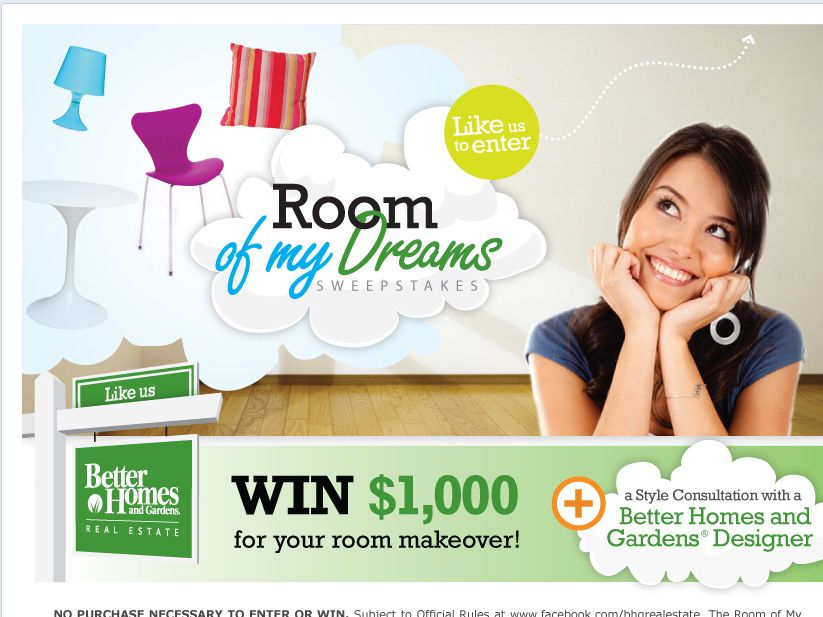 Better Homes and Gardens Real Estate Room of My Dreams Sweepstakes!