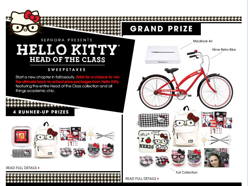 Sephora Hello Kitty Head of the Class Sweepstakes!