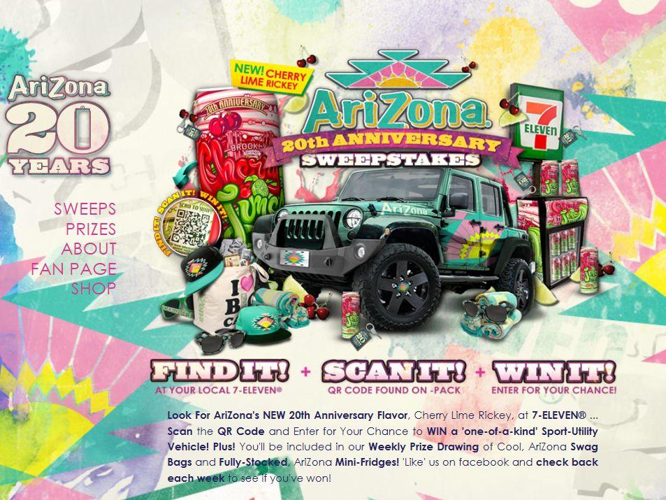 Arizona 20th Anniversary Sweepstakes