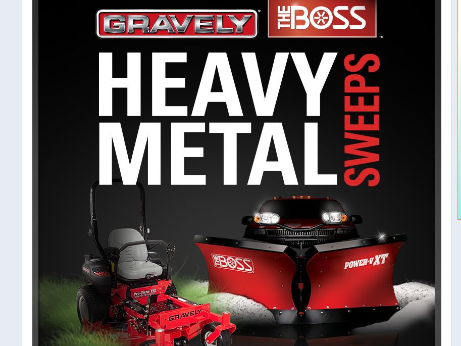 THE BOSS/GRAVELY HEAVY METAL SWEEPSTAKES!